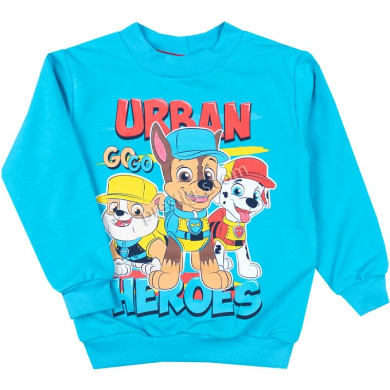 Блуза д.р. Urban в ел.синьо /86-128/ нек.вата/ликра
