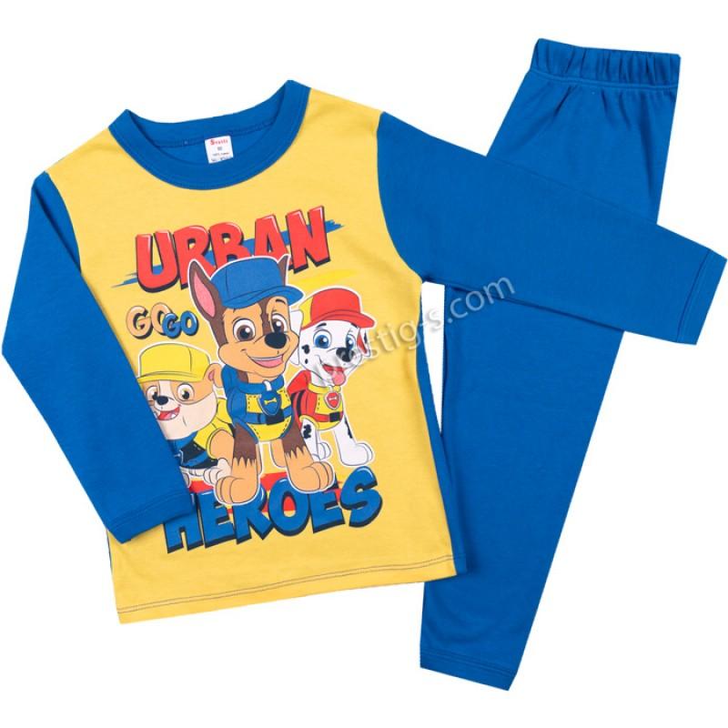 Пижама д.р. Urban в ярко жълто/синьо /68-128/ интерлог