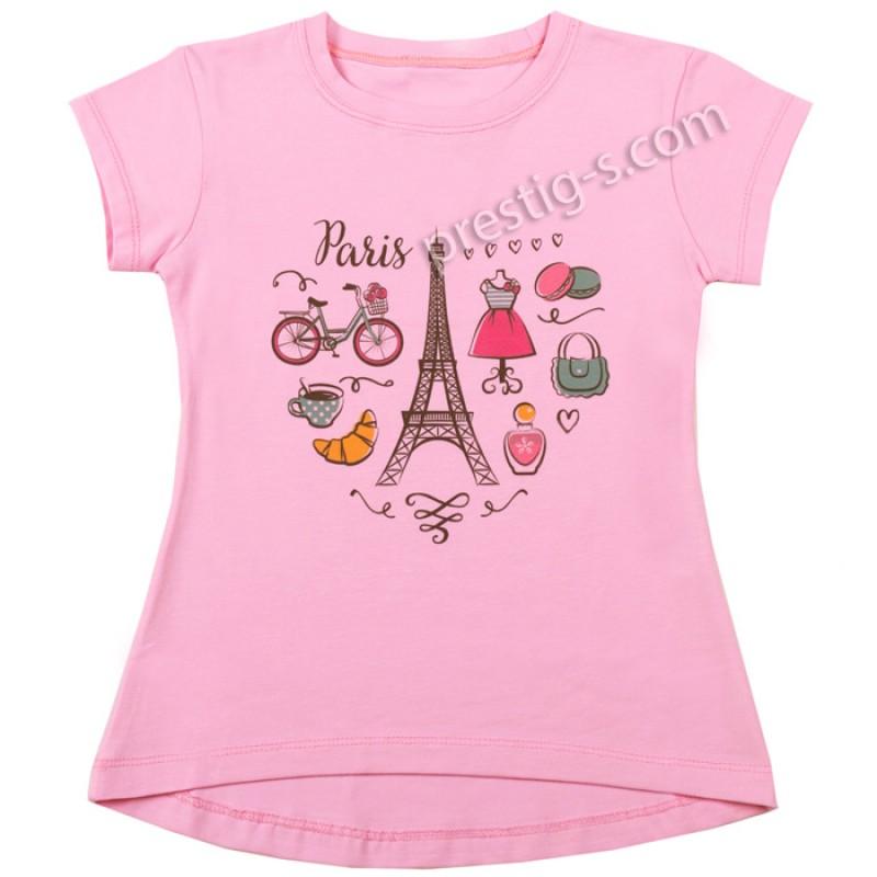 Блуза /туника/ к.р. Париж м.405 в розово /86-104/ ликра