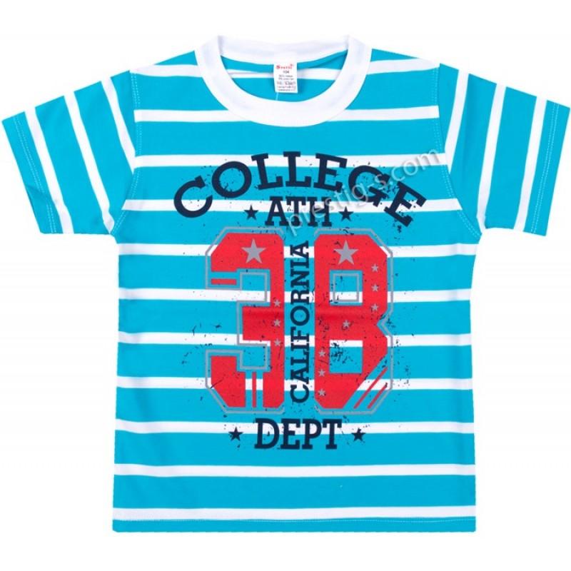 Тениска College 38 в синьо райе /104-140/ ликра