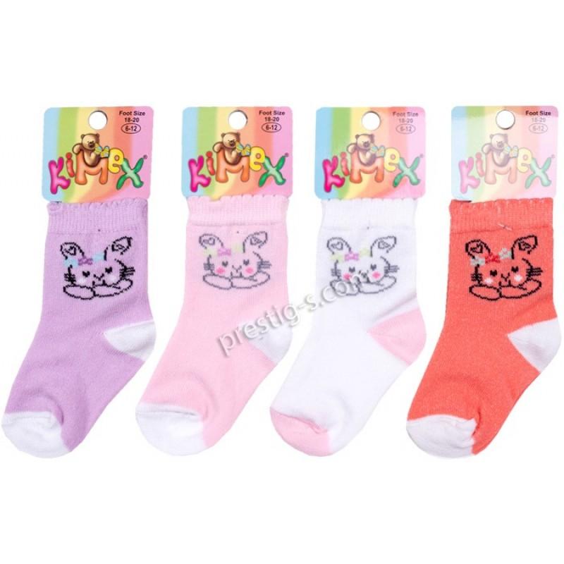 Бебешки чорапки Зaйче с панделка м.134