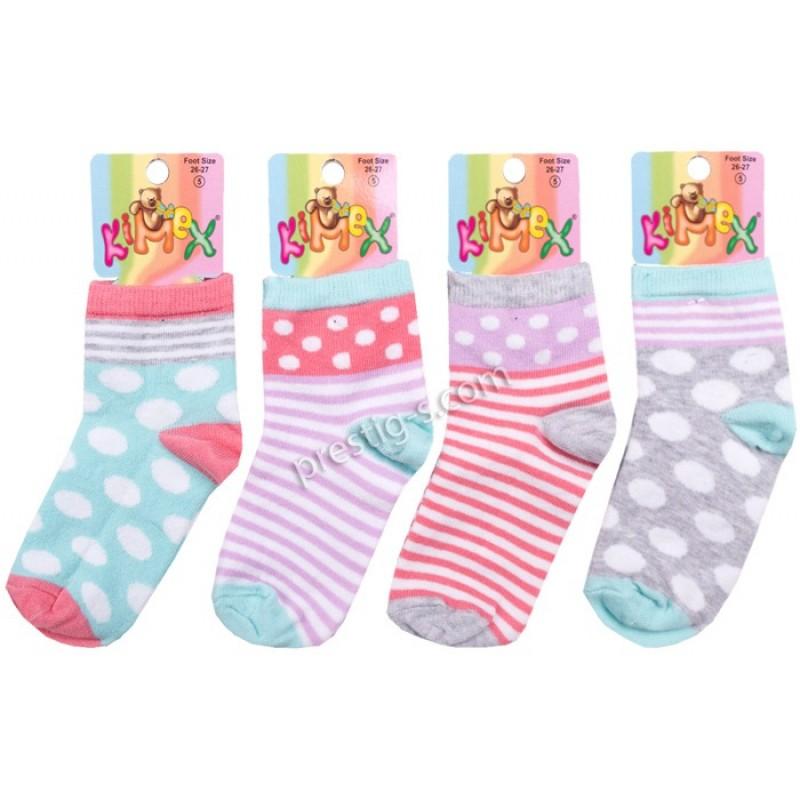 Чорапи момиче Точки и Райета /№5-№9/ м.143