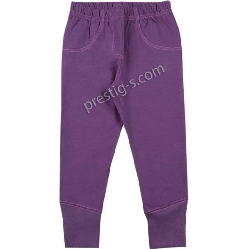 Клин панталон с маншет в лилаво /116-158/ л.вата-ликра