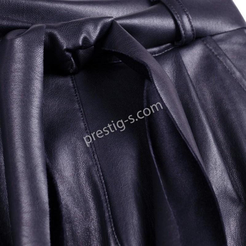 Кожен панталон Контраст в т.синьо /134-158/ м.201 270