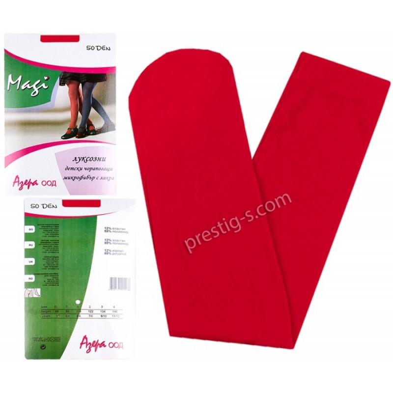 Чорапогащи с микрофибър Гладък - 50 DEN - червен