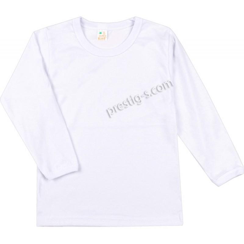 Тениска дълъг ръкав /бяла/ р.86-р.152-сингъл