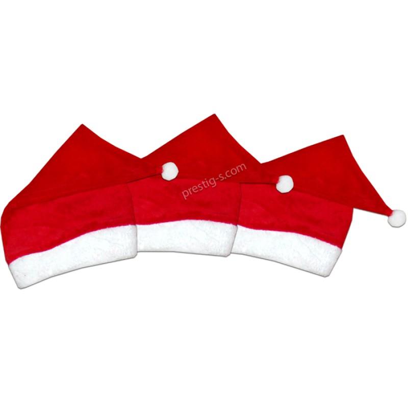 Коледна шапка /56-116/ в червено