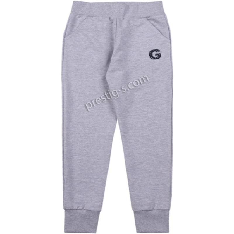 Долнище G - Емблема - Гама /122-152/ в сив меланж -ликра