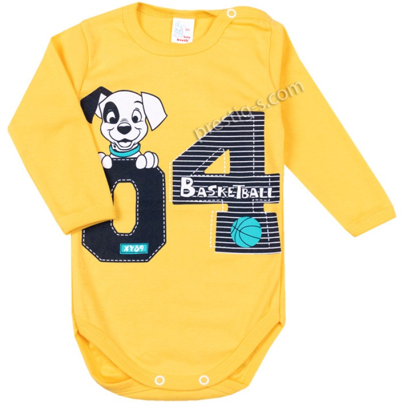 Боди д.р. Баскетбол в жълто /68-98/ рипс