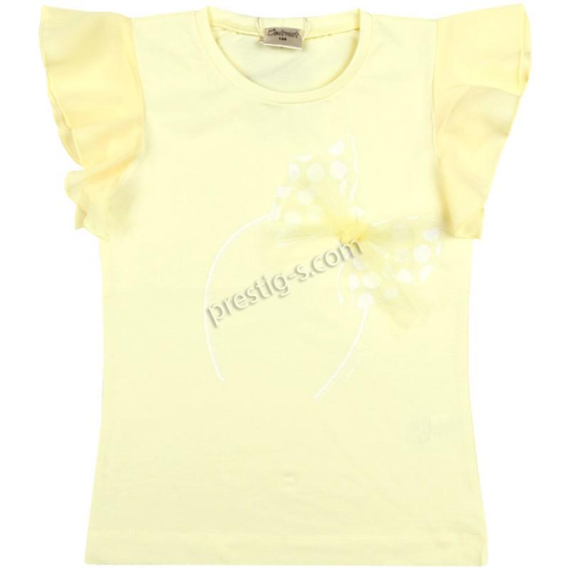 Блуза крилца Панделка в св.жълто /128-146/ м.601 300