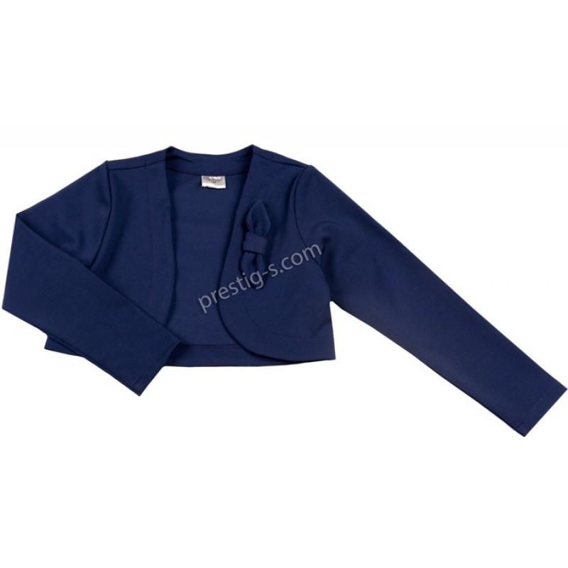 Болеро Контраст с панделка м.900 789/790 /98-116/ т.синьо