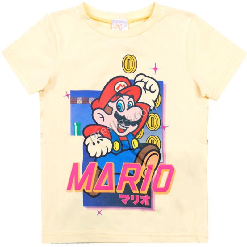 Тениска Марио в жълто /104-152/ ликра