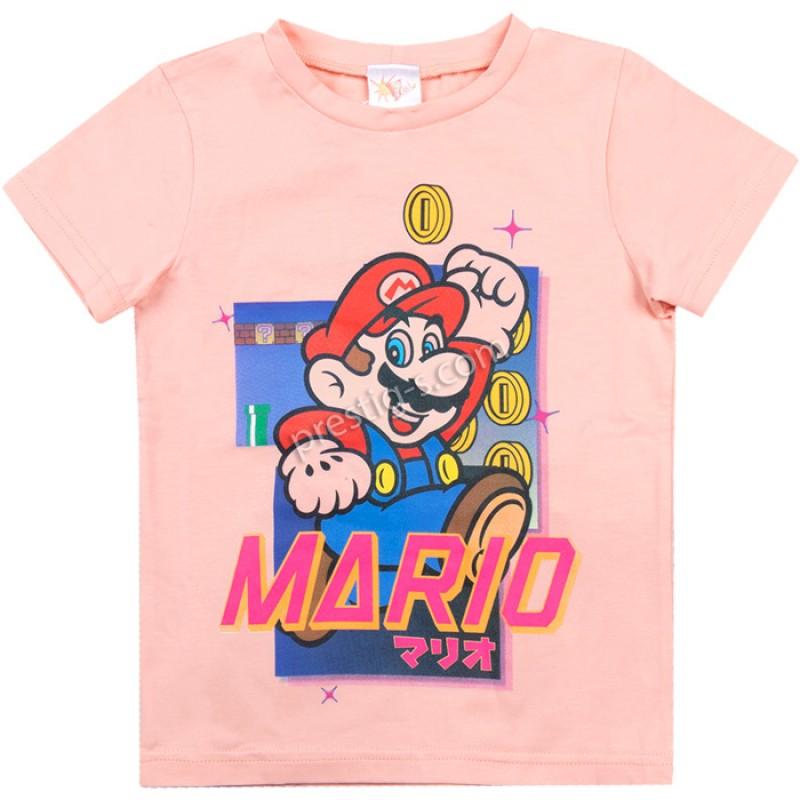 Тениска Марио в пудра /104-152/ ликра