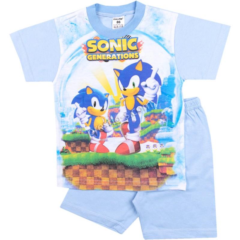Пижама к.р. Sonic в св.синьо /80-128/ сингъл