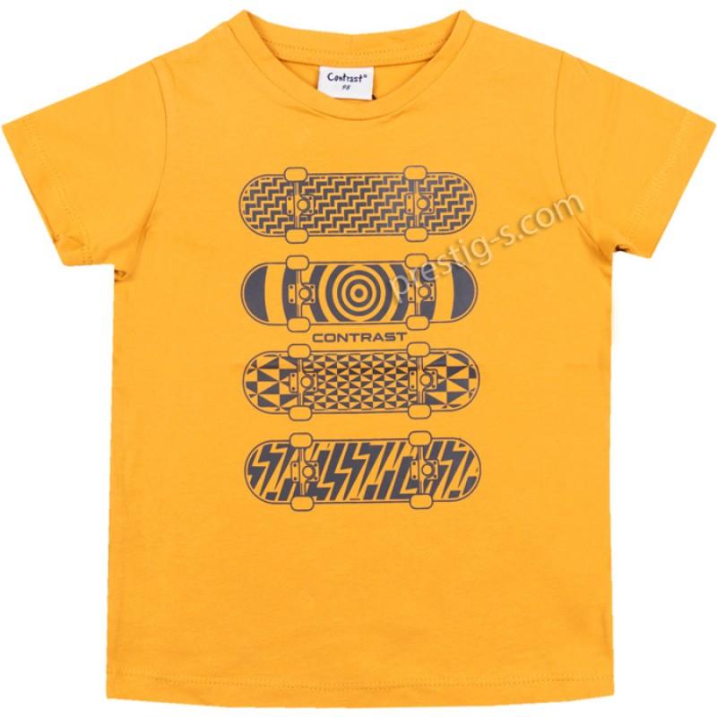Тениска Скейтове в горчица /98-152/ м.601 039-ликра