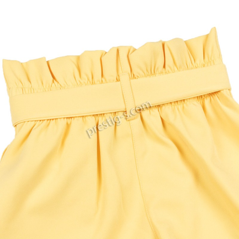Къси панталонки с коланче в жълто /128-164/ м.201 311