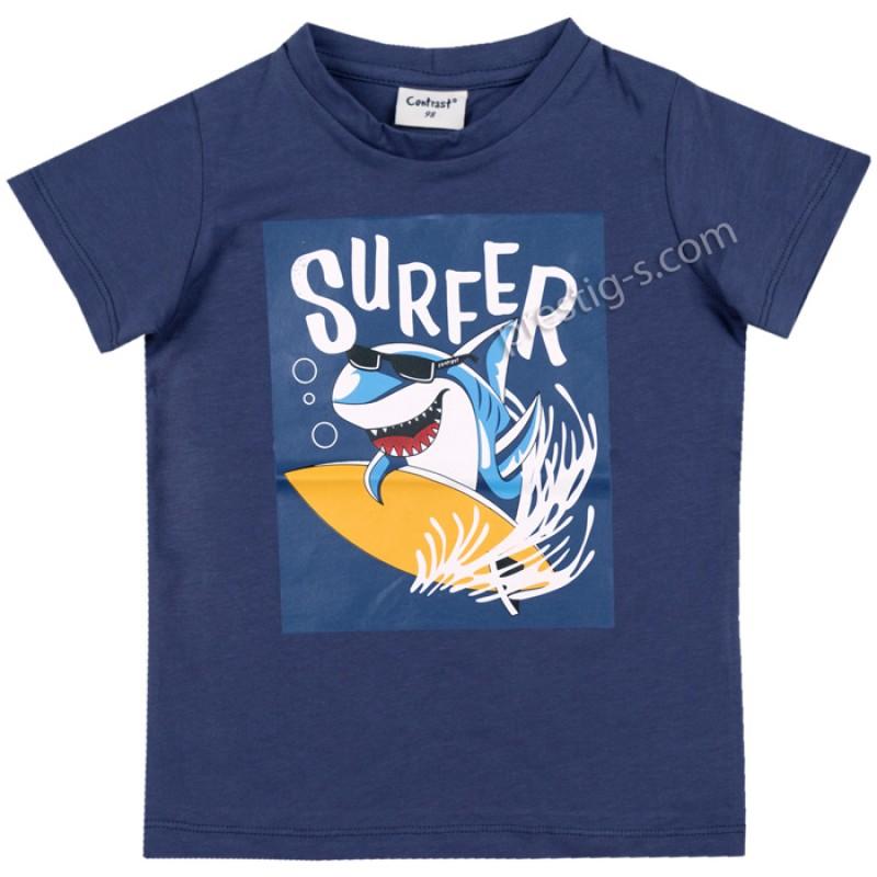 Тениска Сърф в синьо /98-152/ м.601 039-2