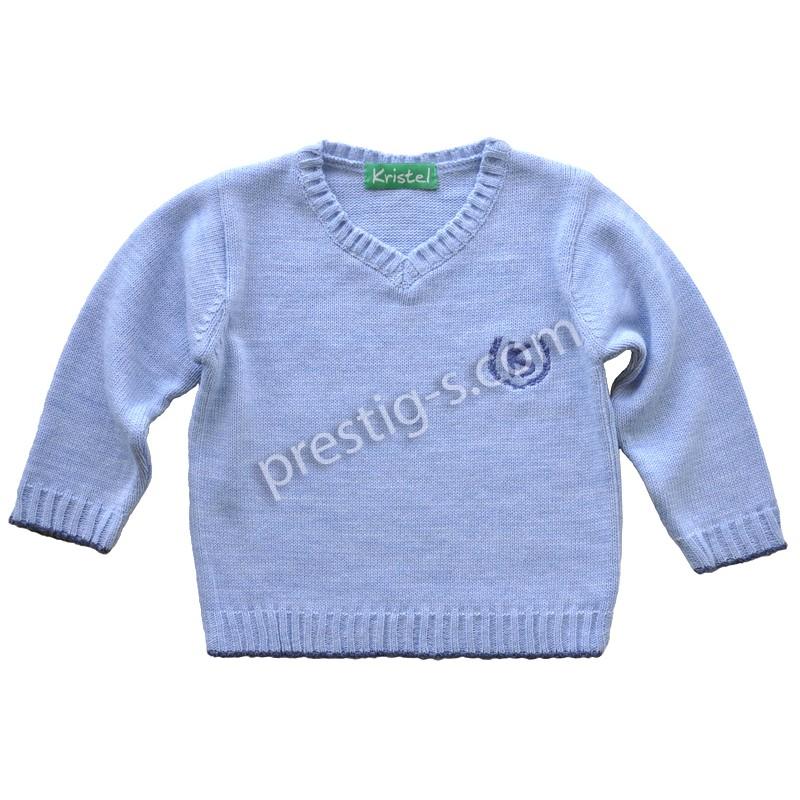 Пуловер момче Кристел в синьо /80-152/ м.4001-2