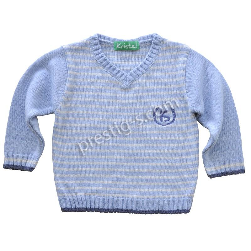 Пуловер момче Кристел в св.синьо /80-140/ м.4003-2