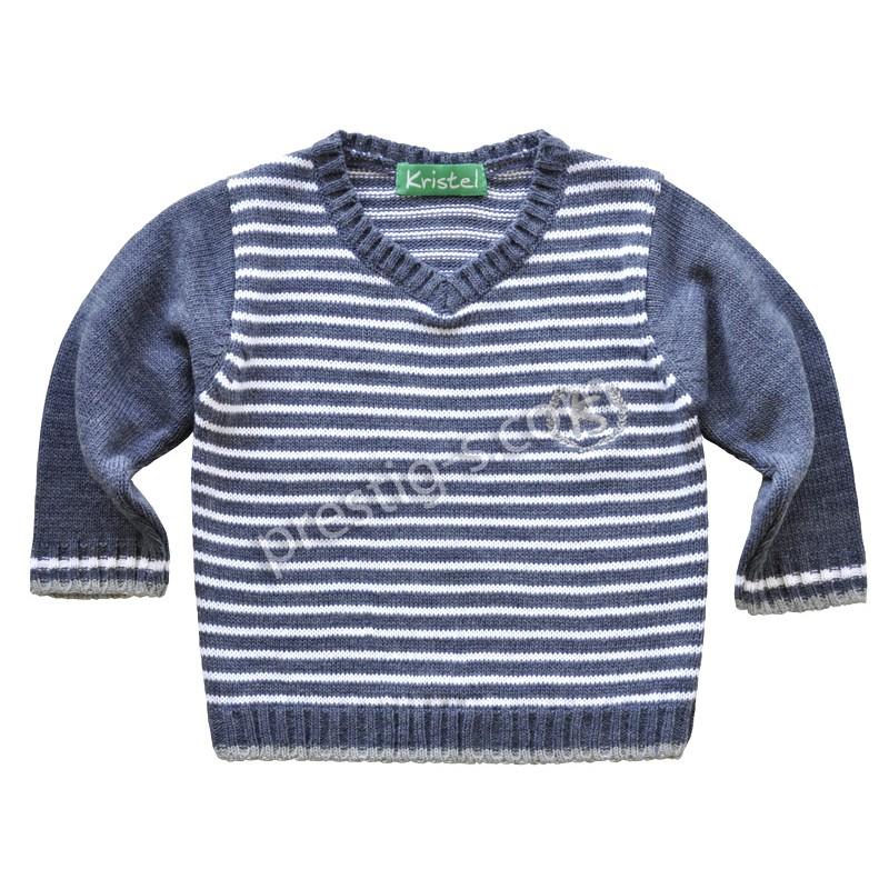 Пуловер момче Кристел в т.синьо /80-140/ м.4003-1