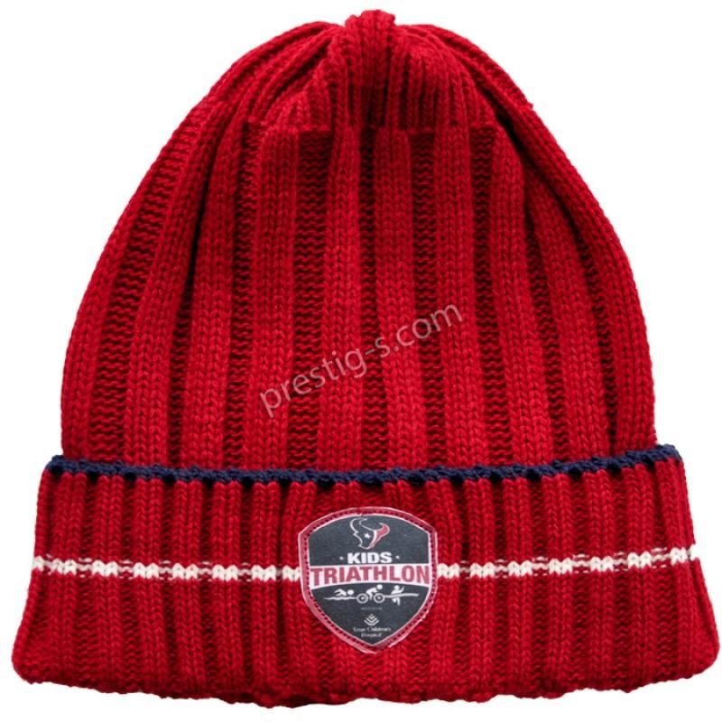 Шапка момче в червено /S-M/ м.6045-2-плетиво