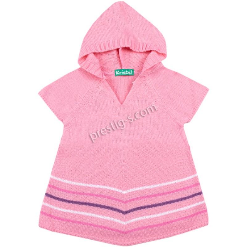 Туника къс ръкав момиче в розово /68-98/ м.3088-2