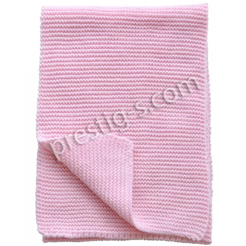 "Шал плетен м.4070 ""Кристел"" в розово"