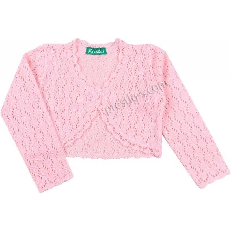 Болеро плетиво /62-140/ м.5002-2 - ажур в розово