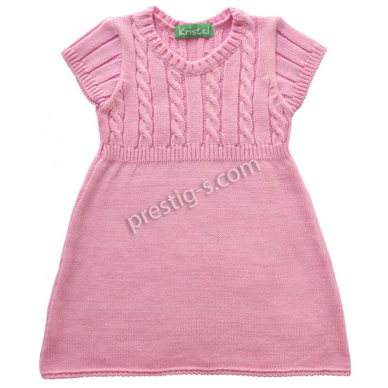 Туника къс ръкав момиче в розово /80-110/ м.2048-2