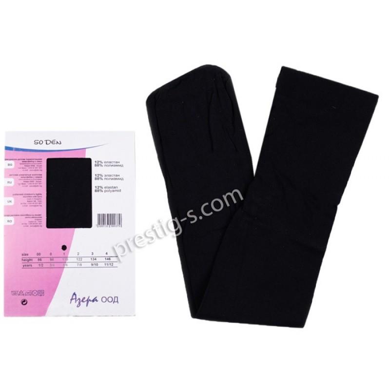 Чорапогащи с микрофибър Гладък - 50 DEN /черен/