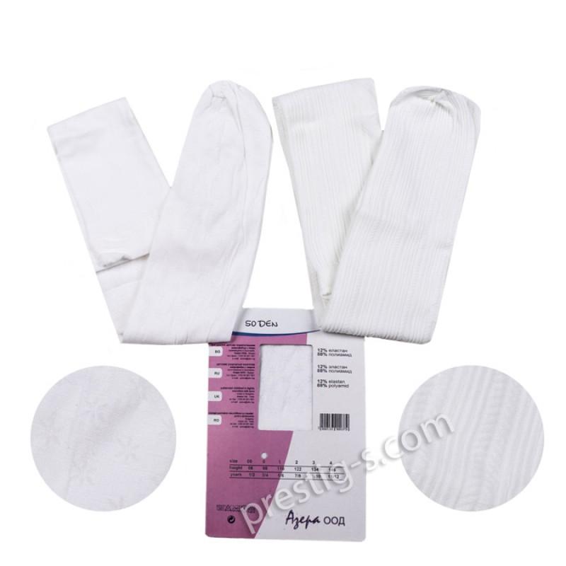 Чорапогащи с микрофибър Фигурален - 50 DEN /бял/
