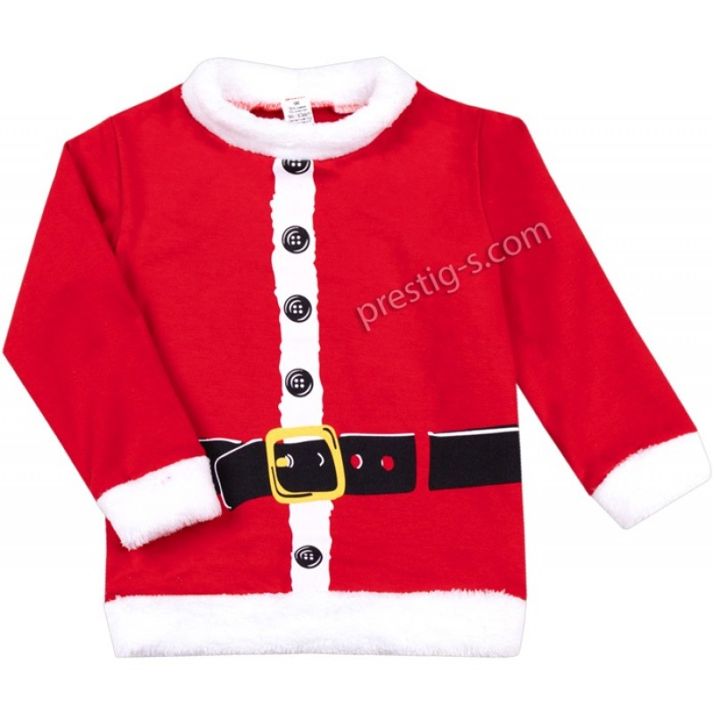 Коледна блуза Дядо Коледа /86-116/ л.вата-ликра