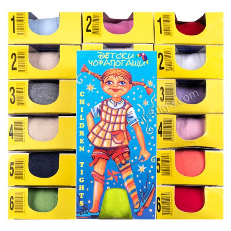 Чорапогащи памук/ликра №3 едноцветни