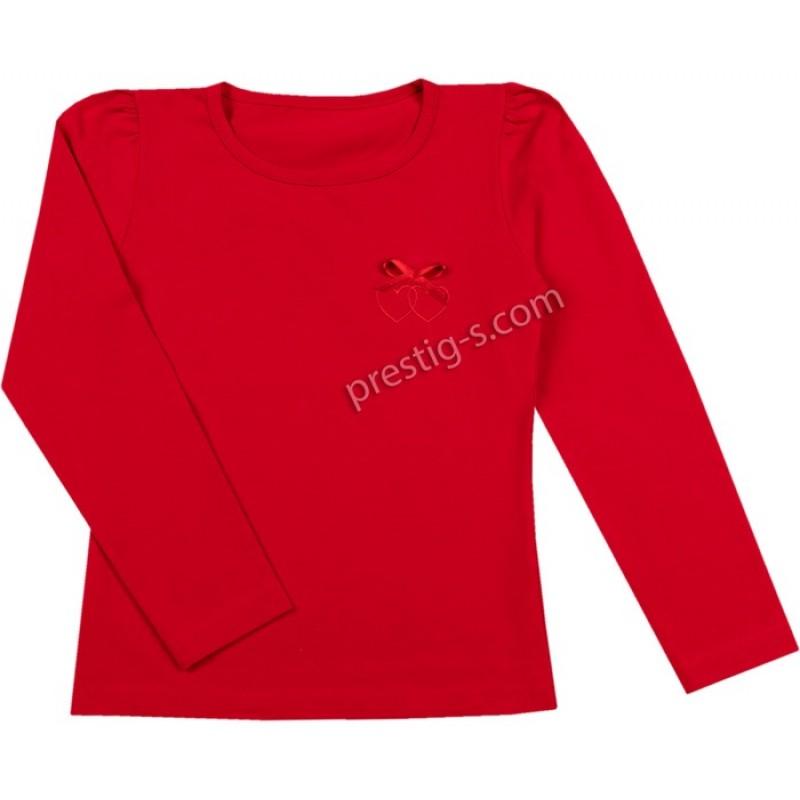 Блуза д.р. 2 сърца в червено /68-110/ ликра