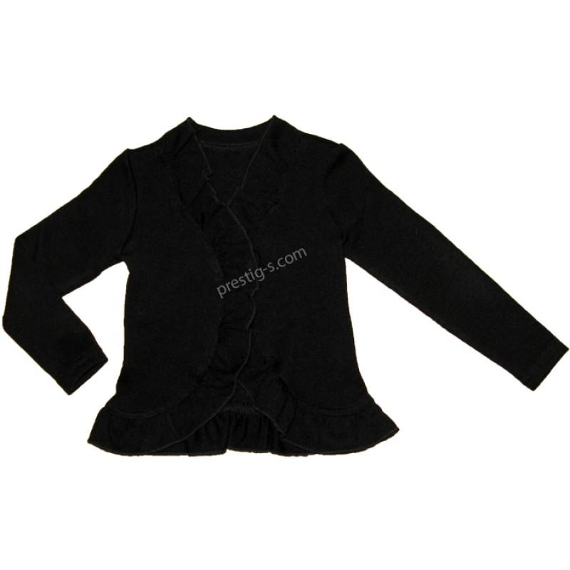 Жилетка момиче в черно /92-116/- плетиво