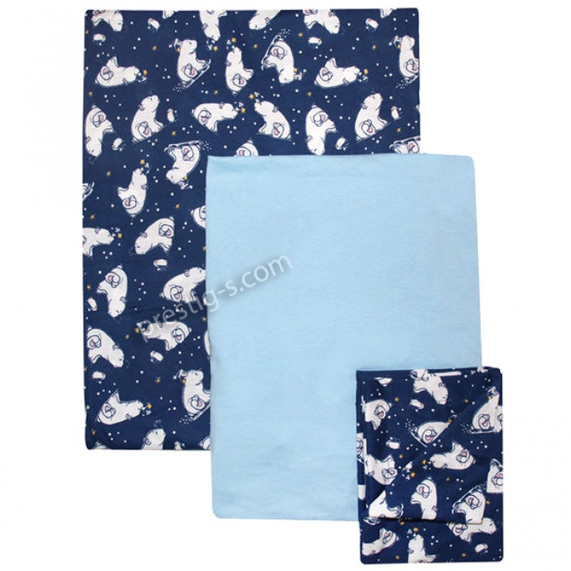 Комплект Спално бельо от трико + чаршаф с ластик