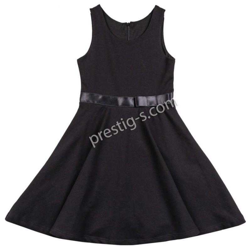 Сукман /рокля/ с панделка /122-146/ в черно
