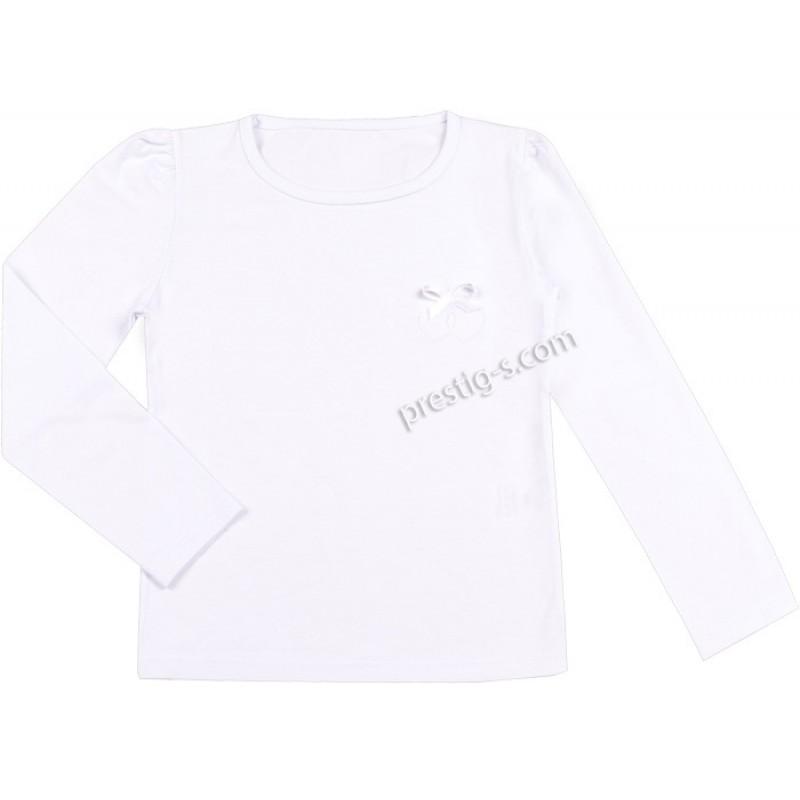 Блуза д.р. 2 сърца в бяло /68-158/ ликра