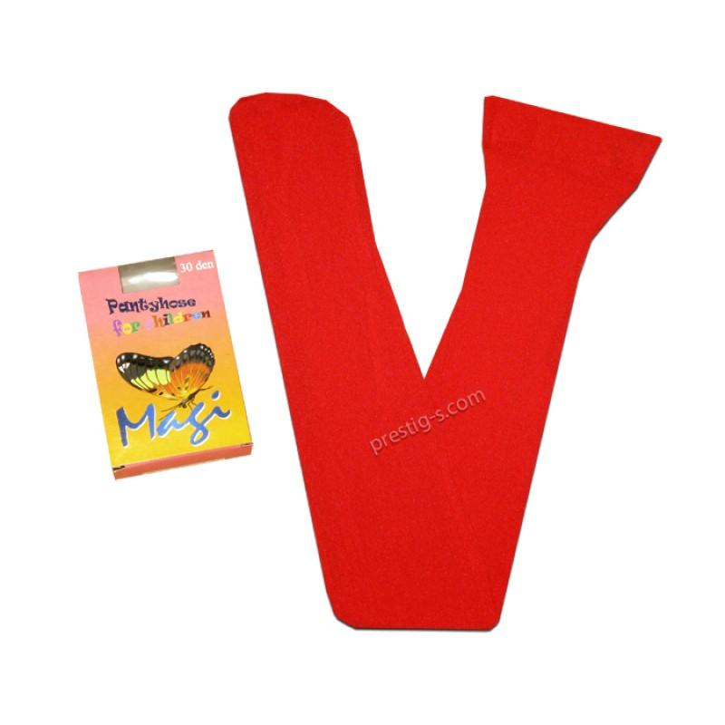 Чорапогащник Маги гладък 30 DEN /червен/