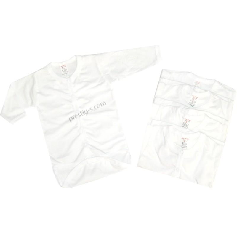 Боди д.р. 8 копчета Бяло /56-68/ сингъл